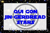 qui gon jingerbread stars
