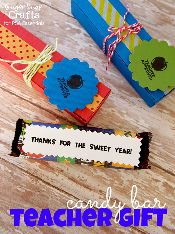 candy bar teacher gift with PSA Essentials #stamping #teachergift