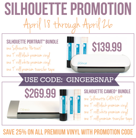 April Silhouette Promotions