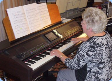 Barbara Powell played her last song on the Club's Yamaha Clavinova CVP-509