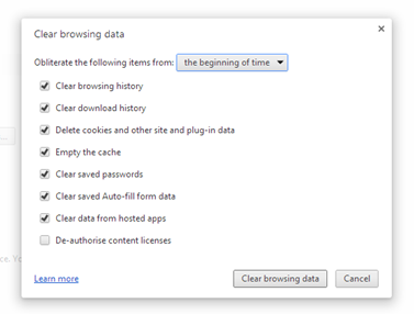 Chrome Browsing History Cleaner