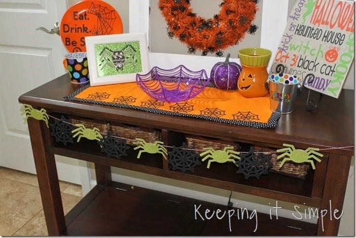 Halloween spider garland (4)