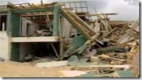 在Heta后Niue岛屿国家的损坏的建筑物
