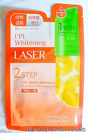Leader's Clinic Mask  IPL Whitening Laser 2step mask