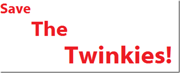 Save the twinkies