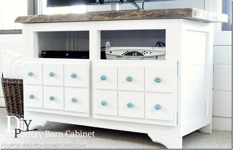 Pottery Barn DIY cabinet