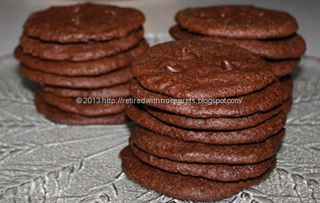 Orange Scented Double Dark Chocolate Cookies