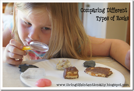 Comparing Different Types of rocks - homeschool science