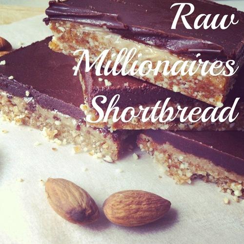 raw millionnaires shortbread