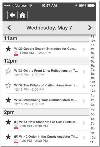 NGS会议应用程序 - 浏览会议日