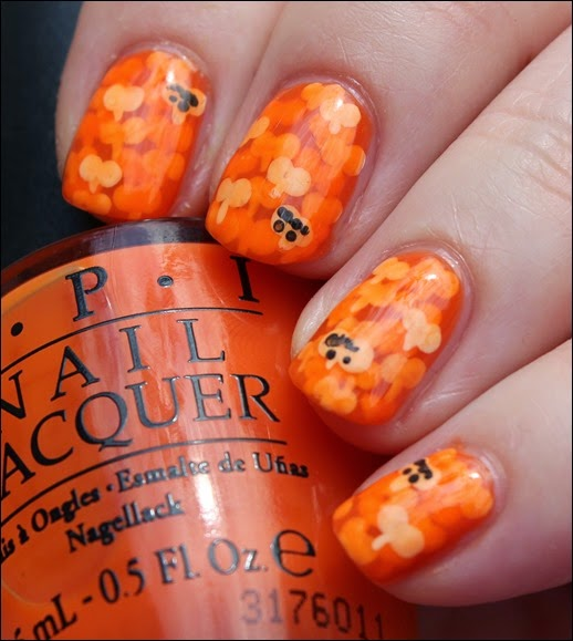 Halloween Pumpkin Kürbis Nail Art Nageldesign 08