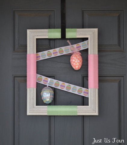 feature spring frame wreath