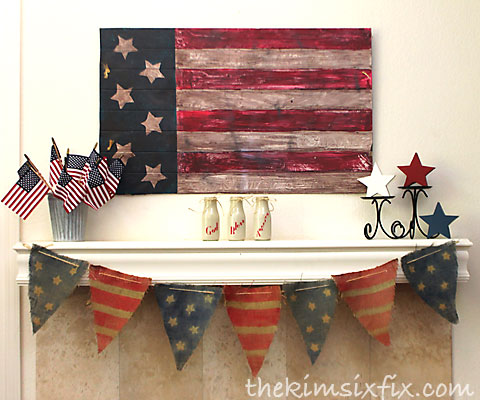 American flag mantle