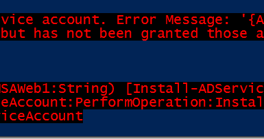 Group Managed Service Account (gMSA) – Access Denied