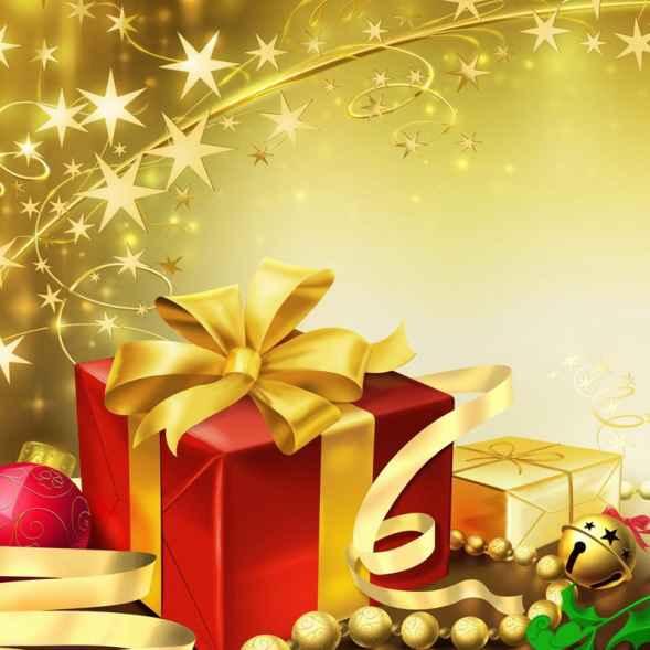 regalos de navidad con estrellas