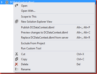 SQLScientist com: The custom tool 'MSLinqToSQLGenerator' failed