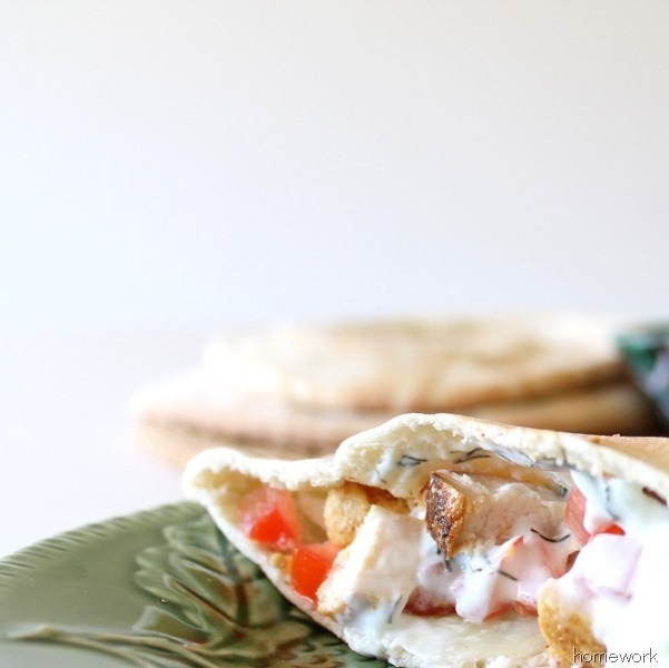 Chicken Pita & Greek Yogurt Sauce via homework (14)_thumb[1]