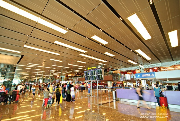 Departure Area at Singapore's Changi International Airport