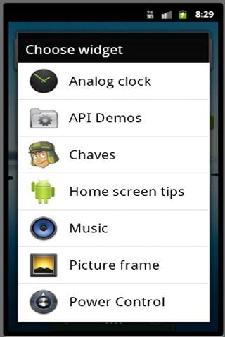 Chaves Widget - screenshot