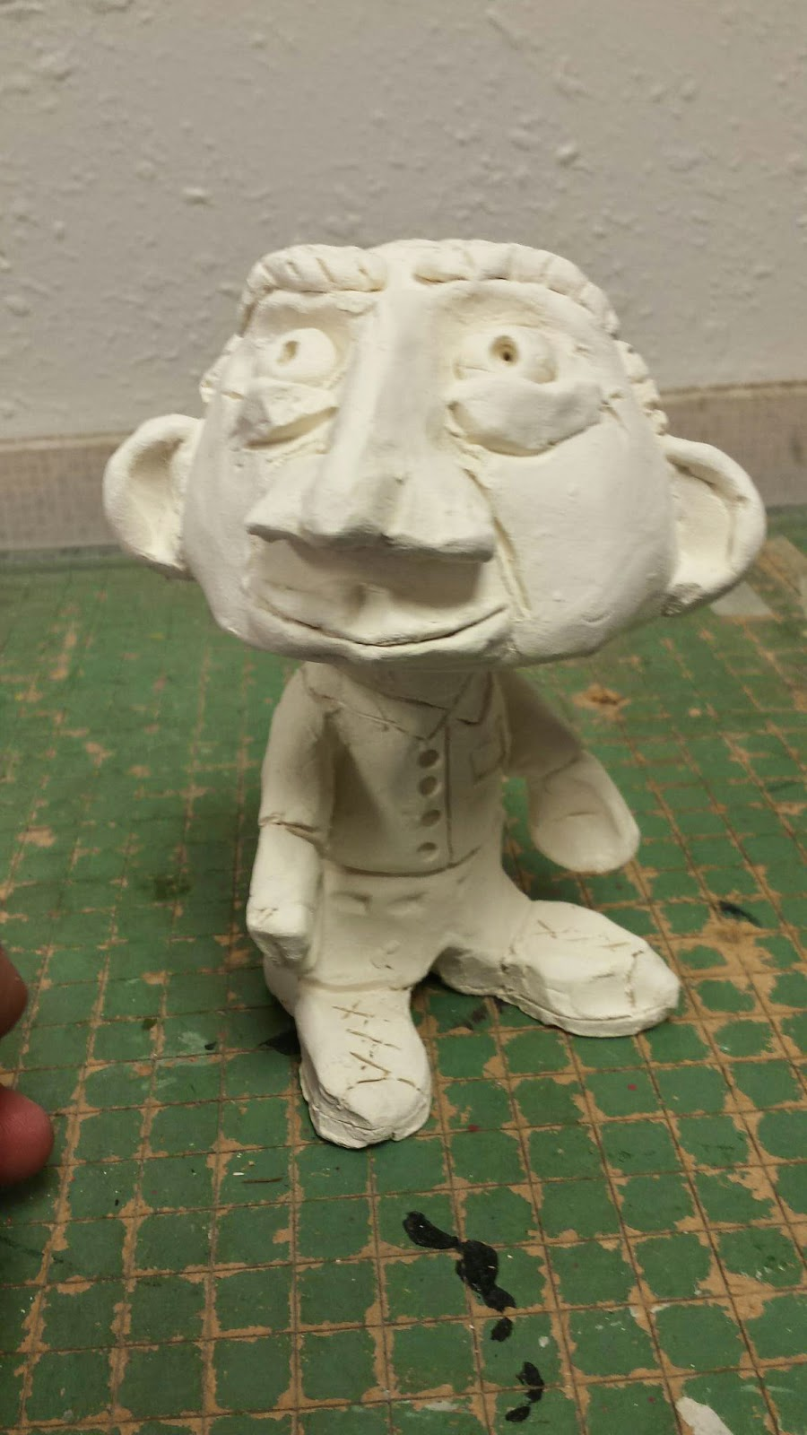 Mr Mintart Bobble Heads Out Of Clay