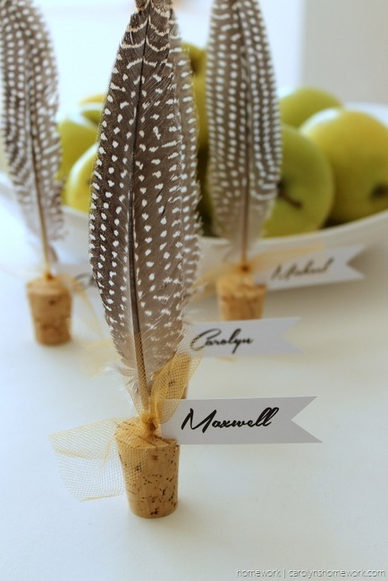 Cork & Feather Place Cards - homework  (9)