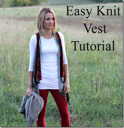 Easy Knit Vest tutorial- no sewing involved!