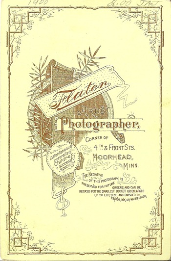 Flaten Photo 1900 DL Antiques 6 back