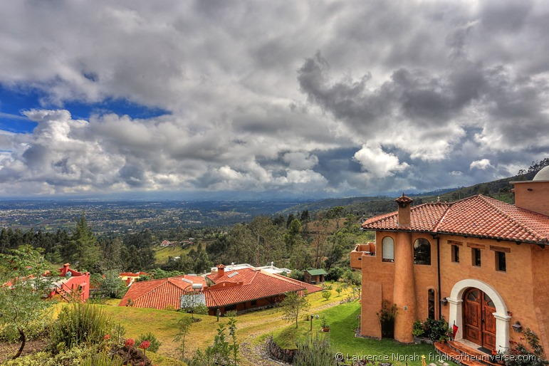 Ilatoa lodge quito ecuador view