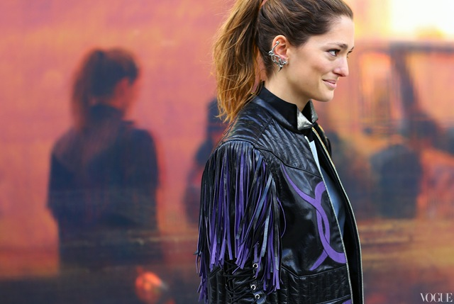 sofia-sanchez-rodate-dragon-earcuff-chanel-fringe-leather-jacket-nyfw-streetstyle-fall-2013
