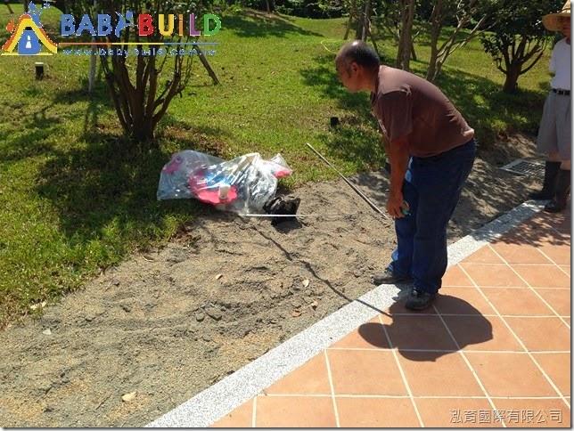 BabyBuild 遊具施工前現場尺寸定位確認