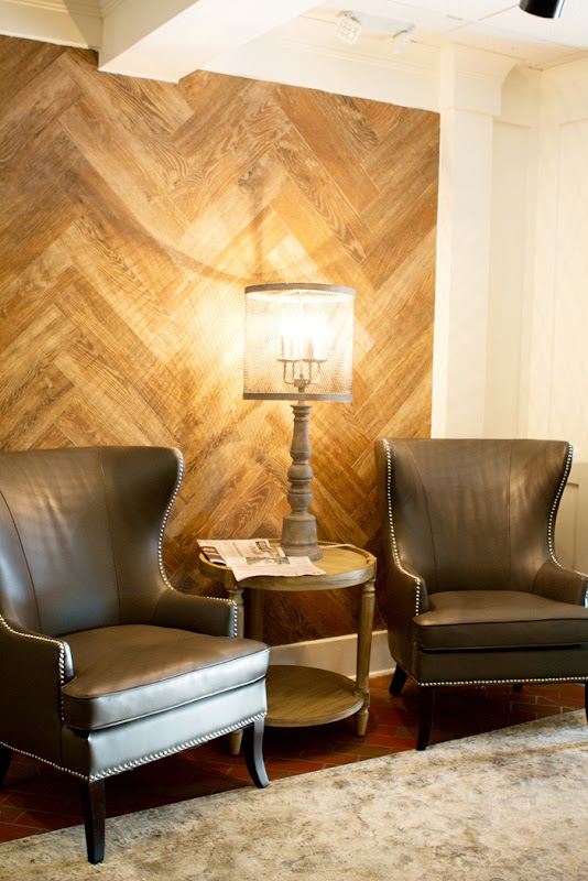 darling wood chevron wall
