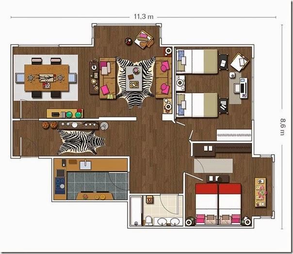 Il fascino dei dettagli retr chic case e interni for Esempi di case arredate