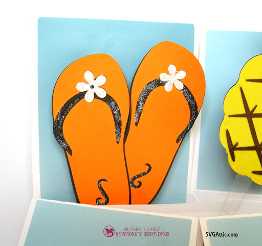 Box in a card - Summer Lovin´Blog Hop - SnapDragon Snippets - Pineapple - Coconut - Ruthie Lopez 4