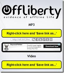 Bajar videos con OffLiberty