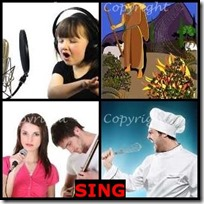 SING- 4 Pics 1 Word Answers 3 Letters