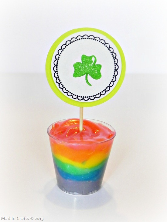 St Patrick's Day Rainbow Pudding