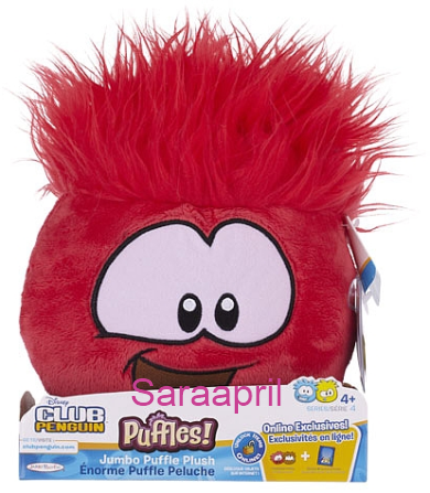Red Jumbo Puffle Plush 8 Inch :)