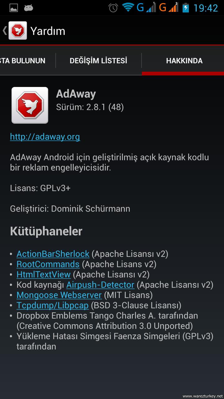 AdAway v3.2 APK Türkçe (Root Gerektirir)
