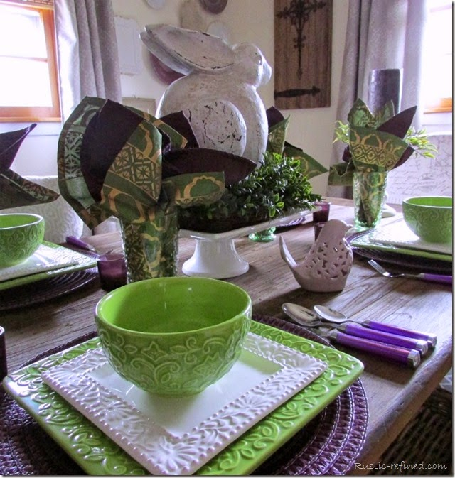 Spring Tablescape using Bright Colors