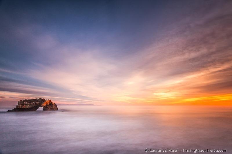 Rock arch santa cruz sunset california-2
