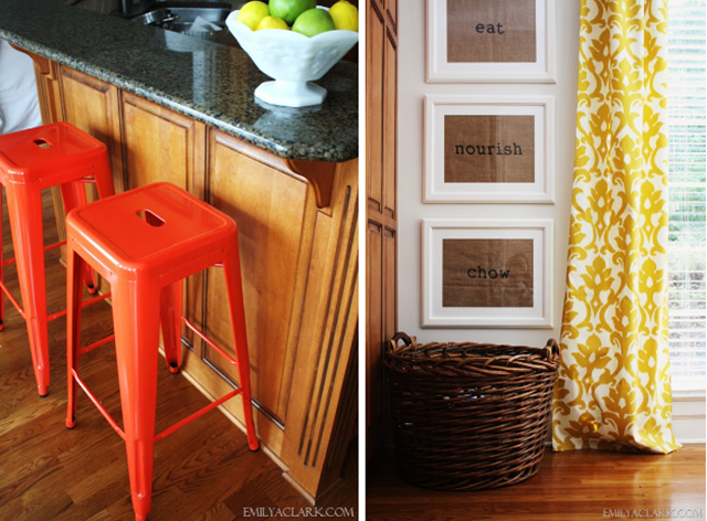 adding color in the kitchen