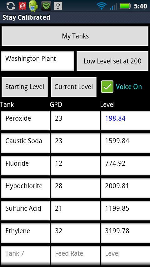Tank Level Monitor- screenshot