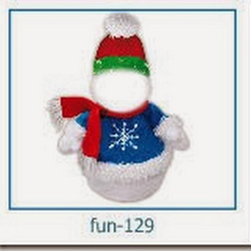 crea un fotomontaje de Santa o muñeco de nieve con tu cara