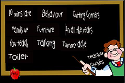 Teacher Cliches - screenshot