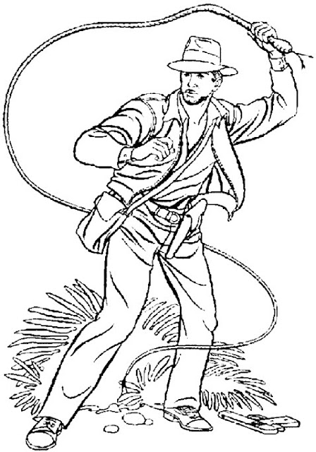 Indiana Jones 4 Coloring Pages