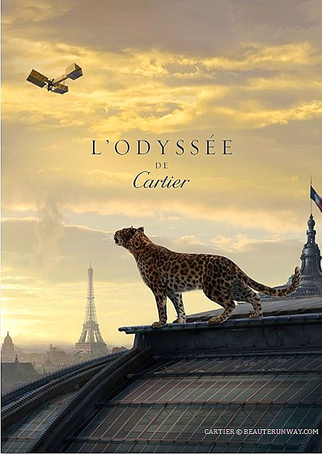 L'Odyssée de Cartier French Luxury high jewelry, watches, leather goods, fragrances accessories Panther ring Santos-Dumont Watch