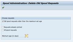 Deleting Spool Request in SAP   SAP Configuration, SAP HANA