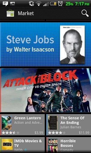 Steve Jobs en Android Market