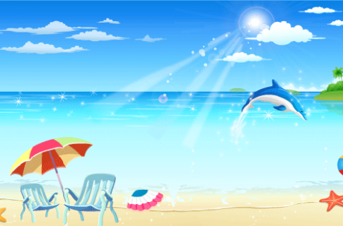 Seaside Resort Vector Image