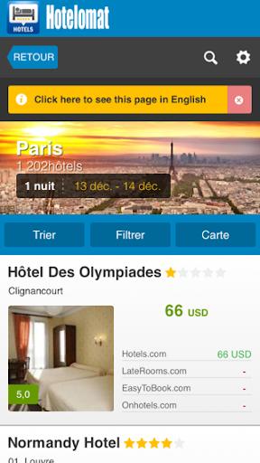 Hotelomat – Recherche d'hôtels